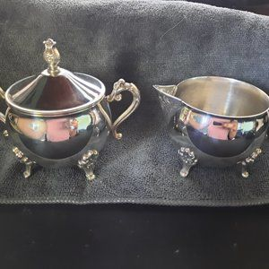 Leonard Vintage Silver Plated Sugar & Creamer set